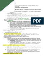 Administrative Law - Pierce - Fall 2012