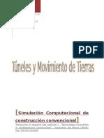 Simulación Computacional de Construcción Convencional de Túneles