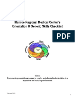 orientation plan and evaluation tool