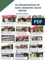 Standard Organisation of Nigeria Honours Sachi Water 2