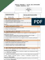 Informe de Desarrollo Personal y Social Del Estudiante 2015