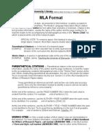 CSU LA MLA Writing Format