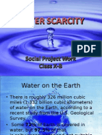 Project on Water Scarcity