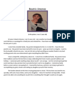 personal statement with picture for beatriz jimenez