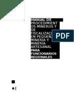 Manual de Procedimiento Minero