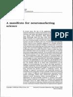 A Manifesto for Neuromarketing, 2008