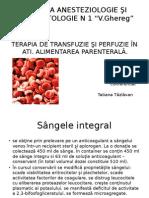 Transfuzie Şi Perfuzie În Ati