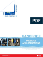 Final - Handbook on Csdp Missions and Operations