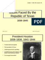 republic of texas issues - presentation  le3   2