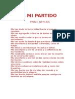 A Mi Partido - Pablo Neruda