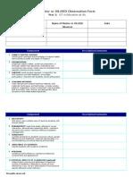 Mentor Observation Form