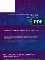 aet 508 the future of community-based services and education