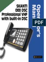SKANTI VHF 1000 DSC Professional-Operating Manual