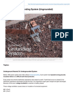 An Overview of Grounding System Ungrounded