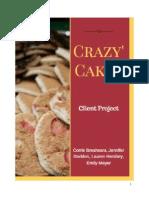 crazy cakes final report