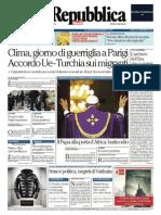 La Repubblica - 30 Novembre 2015