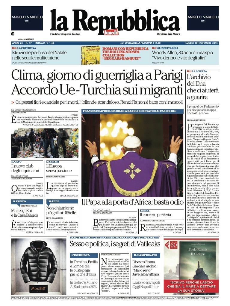 La Repubblica - 30 Novembre 2015 6993ae29b90d