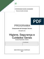 TAS - PROGRAMA Higiene, Segurança e Cuidados Gerais (FT)