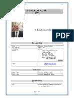 Dr. Mohamad Azzam Sekheta CV 2015 English