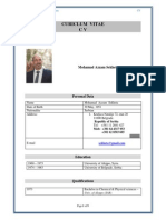 CV of Dr. Mohamad Azzam Sekheta English Version