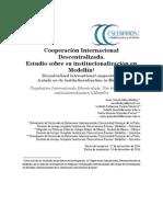 Cooperación Internacional Descentralizada. Estudio sobre su institucionalización en Medellín