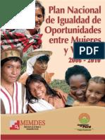 003 Plan Nacional Igualdades Entre Mujeres Varones