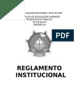Reglamento Institucional Iestp 24 de Julio
