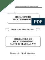 89000216 Soldadura de Mantenimiento Parte IV (Tarea 6 y 7)