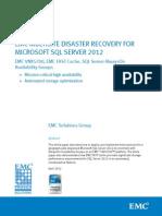 SQL Server 2012 Multisite Dr