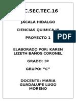 Proyecto de Quimica III de Las Salineras