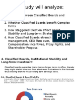 Classified Boards, Institutional Stability and Long-Term Investment-Part 4 With Conclusion