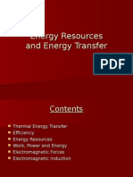 Energy Resources and Energy Transfer