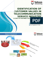 Identification of Customer Values in Telecommunication Service IndustryA Case of Postpaid Cellular Customers in Indonesia