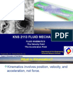 Week 8 Fluid Kinematics