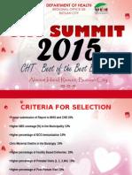 Cht Summit Criteria
