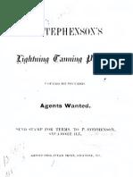 p Stephensons Lightning Tanning Process 1879