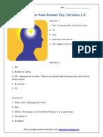 Brain Teaser 1-6 Answers