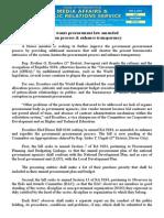 dec06.2015Solon wants procurement law amended to hasten process & enhance transparency