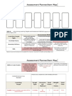 assessment planner item map