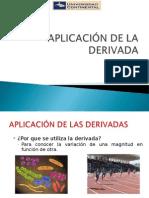 APLICACIÓN DE LA DERIVADA A OTRAS ÁREAS.ppt
