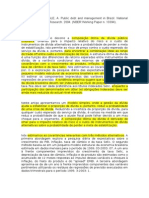 "RESUMO de ""Public Debt and Management in Brazil"""