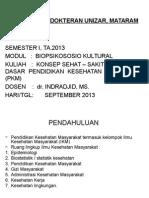 Konsep Dasar Pendidikan Kesehatan Masyarakat (Pkm)