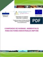 Compendio de Normas Ambientales Para Sectores Industriales