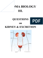HL Questions Kidney, Excretion & Osmoregulation
