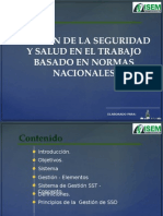 Gestion de La Seguridad y Salud en El Trabajo Basado en Normas Nacionales