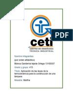 Aplicación de Las Leyes de La Termodinámica Para La Construcción de Una Lámpara Editado