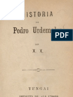 Libro de Pedro Urdemales