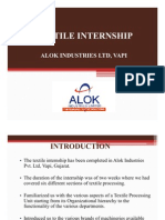 Alok Industries_ Internship Ppt