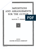 Compositions and Arregments for the Guitarr. Manuel Y. Ferrer