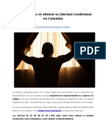 Qué es y cómo se obtiene la Libertad Condicional en Colombia